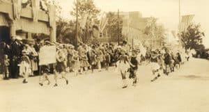 County Parade with Local Children